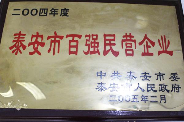 泰安市百强民营企业